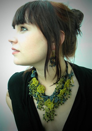 The Naturalists, Vines, Leaves, Beaded Necklace
